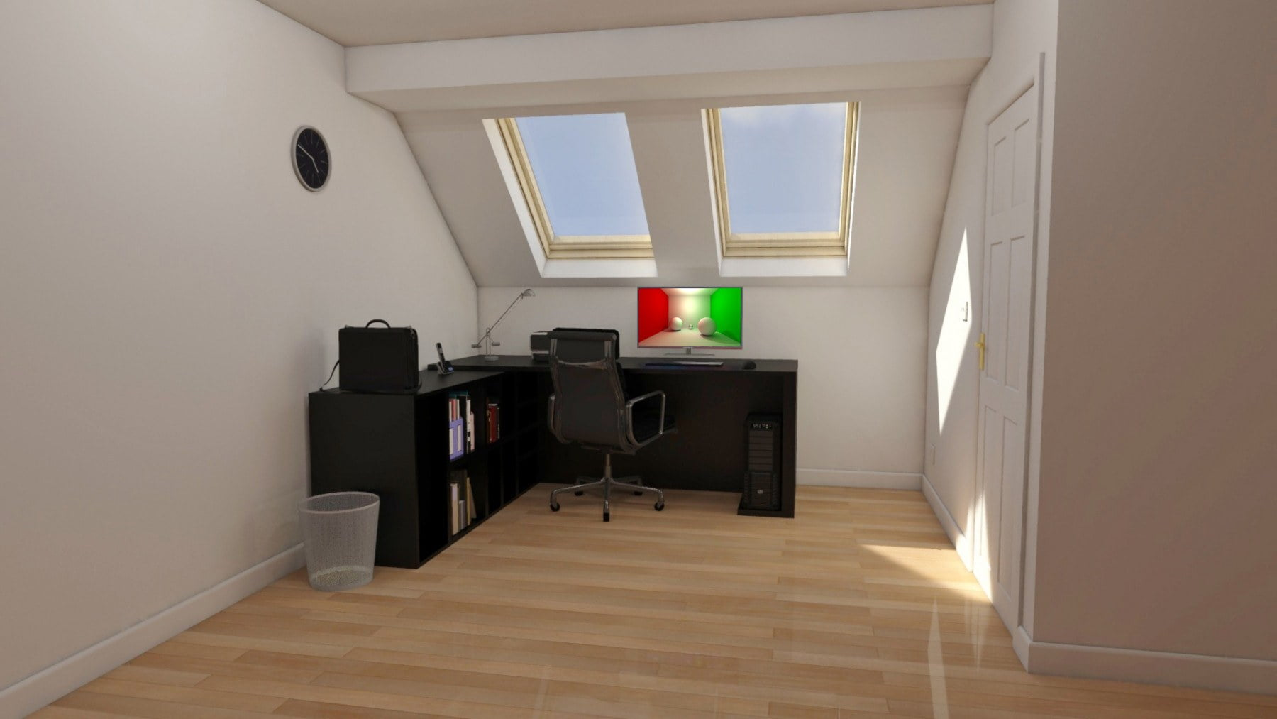 3D simulated image - Velux office space