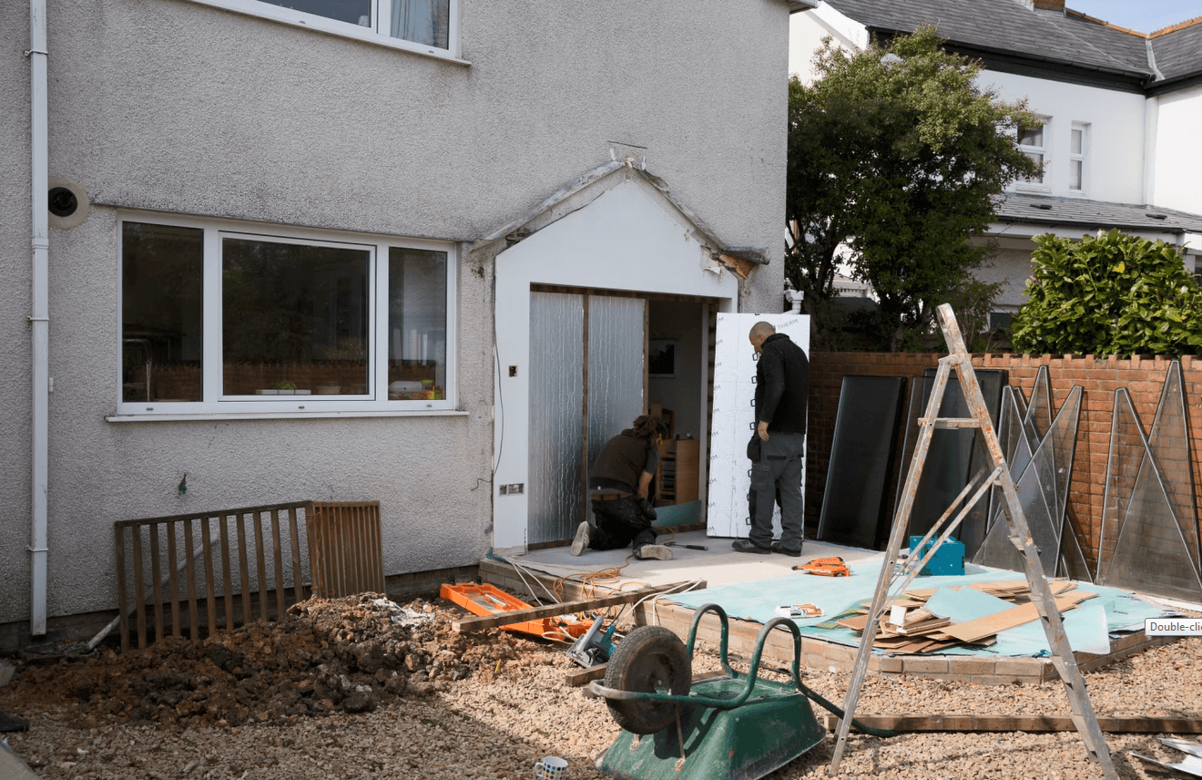 Conservatory removed